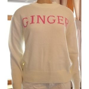 POOF Cream Ginger Sweater, S, NWT